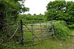 Porta da exploração agrícola de Tradional Imagem de Stock