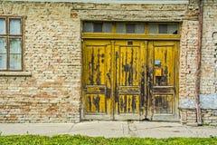 Porta da exploração agrícola do vintage Imagens de Stock