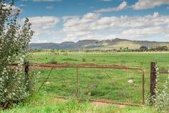 Porta da exploração agrícola no cabo oriental África do Sul Fotos de Stock