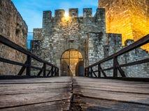 Porta da fortaleza de Smederevo imagens de stock