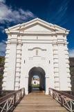 Porta da fortaleza do St Joseph Sao Jose em Macapa, Braz fotos de stock