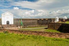 Porta da fortaleza do St Joseph Sao Jose em Macapa, Braz fotografia de stock