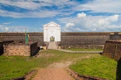 Porta da fortaleza do St Joseph Sao Jose em Macapa, Braz fotos de stock royalty free