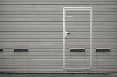 Porta da garagem como o fundo Fotografia de Stock
