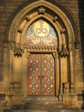 Porta da igreja. Foto de Stock