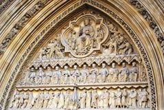 Porta da igreja da abadia de Westminster - Londres Imagem de Stock Royalty Free