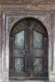 A porta da igreja da concepção imaculada em Lepoglava, Croácia Imagem de Stock