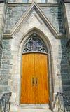 porta da igreja do 19o século Imagens de Stock