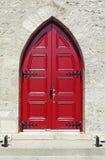 porta da igreja do 19o século Imagem de Stock