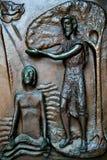 Porta da igreja do aviso, Nazareth Imagens de Stock Royalty Free