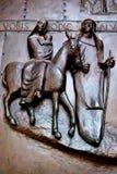 Porta da igreja do aviso, Nazareth fotografia de stock royalty free