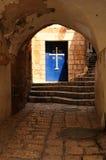 Porta da igreja do St. Michael. Jaffa. Imagem de Stock Royalty Free