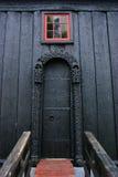 Porta da igreja do Stave de Lom Imagem de Stock