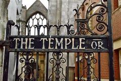 Porta da igreja do templo Foto de Stock Royalty Free