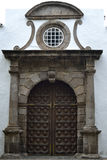 Porta da igreja San Marcos Evangelista, Icod de los vinos fotografia de stock