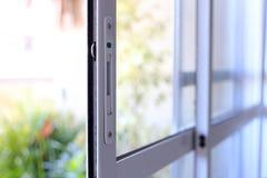 Porta da janela de alumínio e de vidro Fotos de Stock