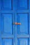 Porta da madeira da cor Fotografia de Stock Royalty Free