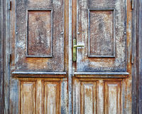Porta da madeira maciça da casa Fotografia de Stock