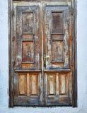 Porta da madeira maciça da casa Foto de Stock Royalty Free