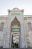 A porta da mesquita azul Fotos de Stock