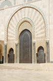 Porta da mesquita de Hassan II. Fotos de Stock