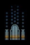 Porta da mesquita de Hassan II Imagem de Stock