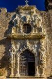 Porta da missão espanhola San Jose do parque nacional, San Antonio, Texas imagens de stock royalty free