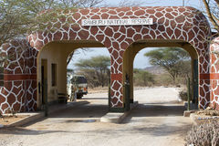 Porta da reserva nacional de Samburu Foto de Stock