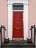 Porta da rua vermelha Fotografia de Stock
