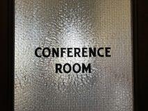 Porta da sala de conferências Imagem de Stock Royalty Free