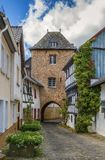 Porta da torre, Blankenheim, Alemanha Fotografia de Stock