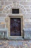 Porta da torre preta em Ceske Budejovice, república checa Imagens de Stock Royalty Free