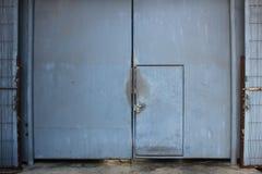 Porta de aço fotografia de stock