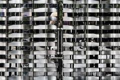 Porta de aço inoxidável do metal Fotografia de Stock Royalty Free