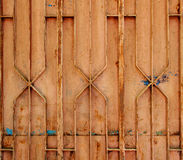 Porta de aço oxidada Fotos de Stock Royalty Free