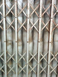 Porta de aço velha Imagens de Stock