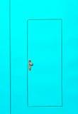 Porta de aço verde Imagem de Stock