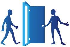 Porta de abertura da pessoa