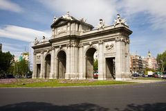 Porta de Alcala, Madrid Imagens de Stock Royalty Free