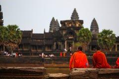 Porta de Angkor Wat do reino de Siem Reap cambodia do bapoun do bakong do bayon de Angkor Thom da maravilha Foto de Stock Royalty Free