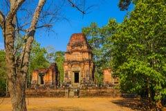Porta de Angkor Wat do reino de Siem Reap cambodia do bapoun do bakong do bayon de Angkor Thom da maravilha Fotografia de Stock Royalty Free