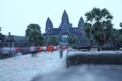 Porta de Angkor Wat do reino de Siem Reap cambodia do bayon de Angkor Thom da maravilha Fotografia de Stock Royalty Free