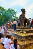 Porta de Angkor Wat do reino de Siem Reap cambodia do bayon de Angkor Thom da maravilha Imagens de Stock