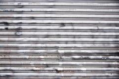 Porta de aço da garagem Imagens de Stock