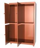 Porta de armário aberta Fotografia de Stock