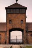 A porta de Auschwitz Imagem de Stock