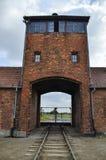 A porta de Auschwitz imagens de stock royalty free
