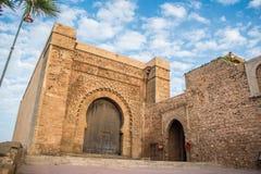 Porta de Bab el Kebir de Kasbah do Udayas Foto de Stock