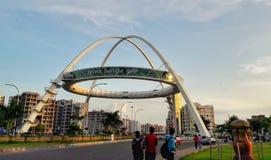Porta de Biswa Bangla, Kolkata, Índia ocidental de Bengal fotos de stock
