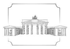 Porta de Brandebourg ilustração royalty free